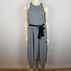 Banana Republic sleeveless checked summer dress 4
